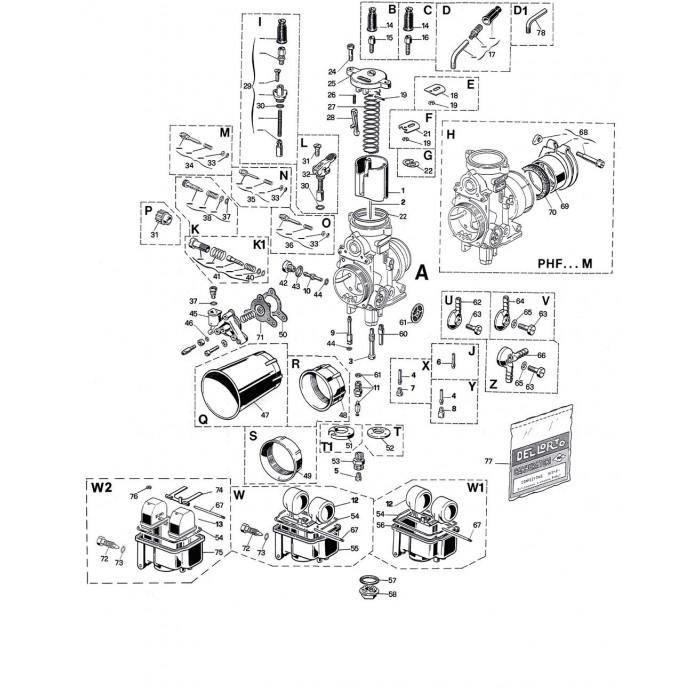 Carburateur PHF 36 DS1