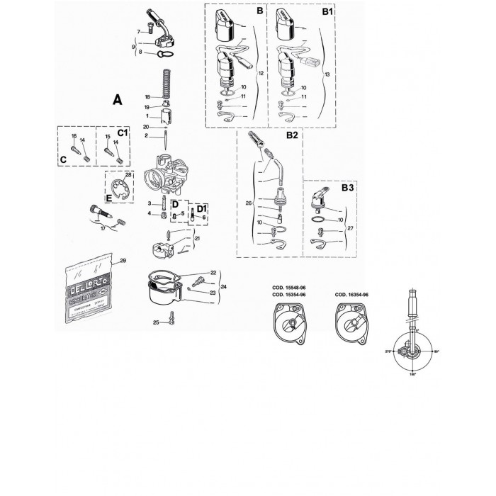 carburateur phva 12 qd dellorto fr. Black Bedroom Furniture Sets. Home Design Ideas