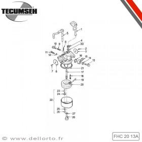 Carburateur FHC 20 13 A pour Tecumseh BH35