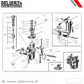 Carburateur Dellorto TA B