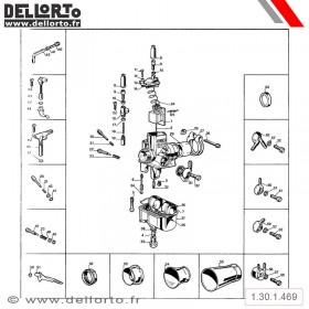Carburateur Dellorto VHB