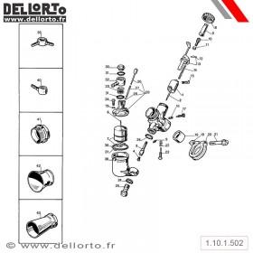 Carburateur Dellorto UA B